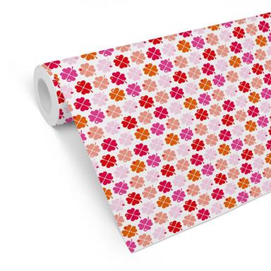 Mustertapete byGraziela - Kleeblatt pink