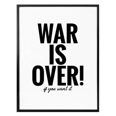 Poster - War is over