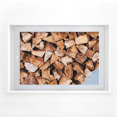 Sichtschutzfolie Holz