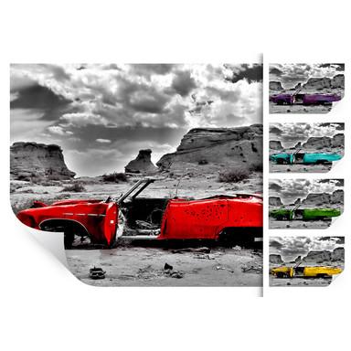 Wallprint Roter Cadillac