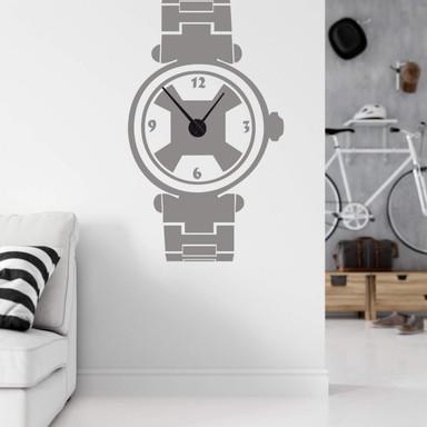 Wandtattoo + Uhr Armbanduhr Sport