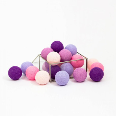 Cotton Ball Lights - LED Lichterkette Purple 20-tlg.