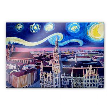 Acrylglasbild Bleichner - München bei Nacht