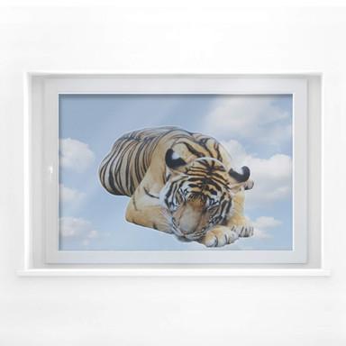 Fensterbild Real resting Tiger