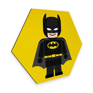 Hexagon - Alu-Dibond Gomes - Batman Spielzeug