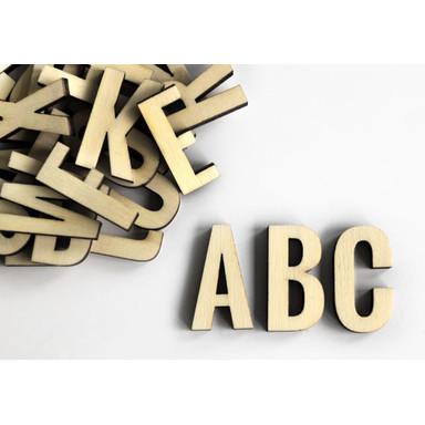 Holzbuchstaben Alphabet - Oswald - 26tlg