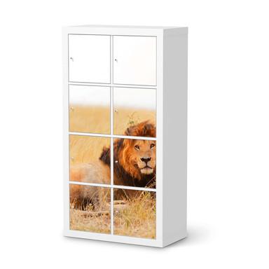 Klebefolie IKEA Expedit Regal 8 Türen - Lion King- Bild 1