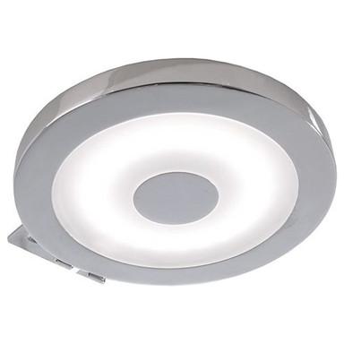LED Möbelaufbauleuchte Spiegel Rund in Silber-Satiniert und Chrom 4.5W 300lm IP44