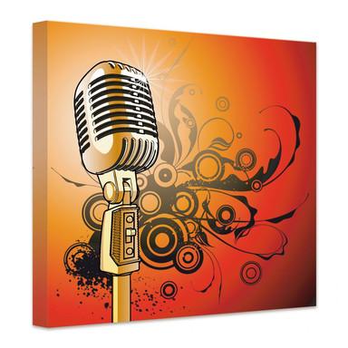 Leinwandbild Retromicrophone