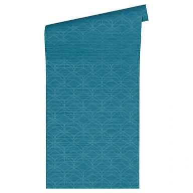 Livingwalls Tapete Titanium 2 blau, metallic