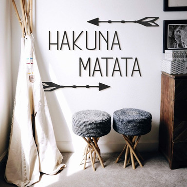 MDF - Holzdeko Hakuna Matata mit Pfeilen