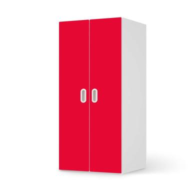 Möbelfolie IKEA Stuva / Fritids Schrank - 2 grosse Türen - Rot Light