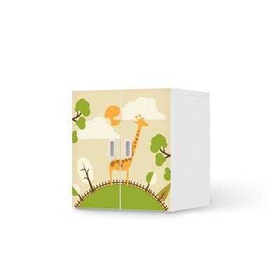 Möbelfolie IKEA Stuva / Fritids Schrank - 2 kleine Türen - Mountain Giraffe