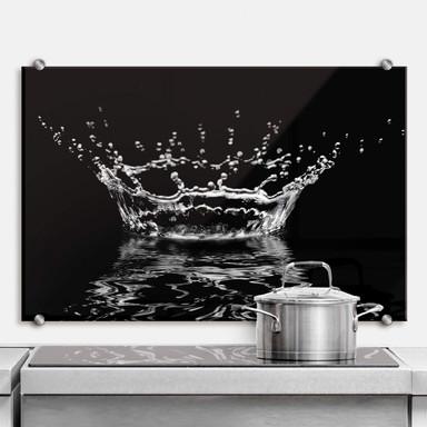 Spritzschutz Wassertropfen