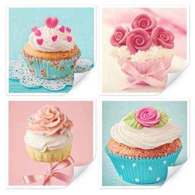 Wallprint Cupcakes Set (4-teilig)