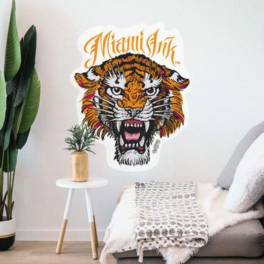 Wandsticker Miami Ink Tiger