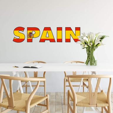 Wandsticker Spain Schriftzug