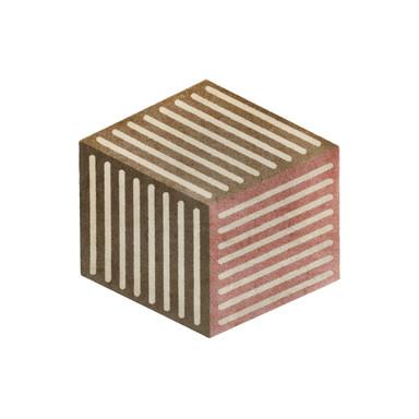 Wash&Dry Decor Fussmatte Puzzle Cube powder 100x100cm