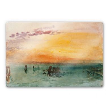 Glasbild Turner - Venedig von Fusina aus gesehen