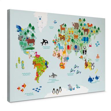 Leinwandbild byGraziela - Weltkarte