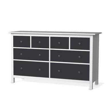 Möbelfolie IKEA Hemnes Kommode 8 Schubladen - Grau Dark