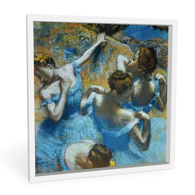 Wandbild Degas - Tänzerinnen in blauen Kostümen