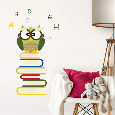 Wandsticker Büchereule