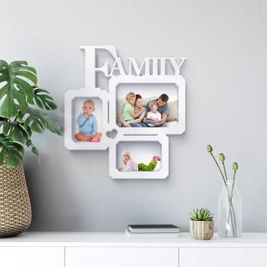 Dekobuchstaben 3D Bilderrahmen -Family love-