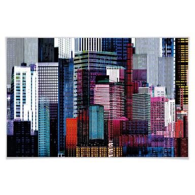 Giant Art® XXL-Poster Colourful Skyscrapers - 175x115cm - Bild 1