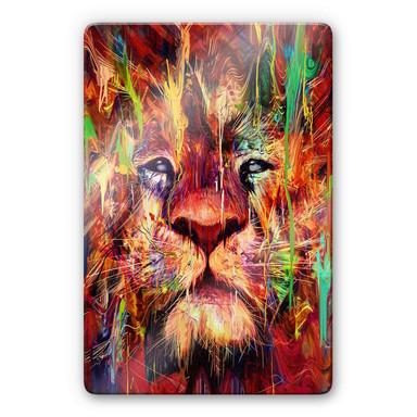 Glasbild Nicebleed - Lion Red