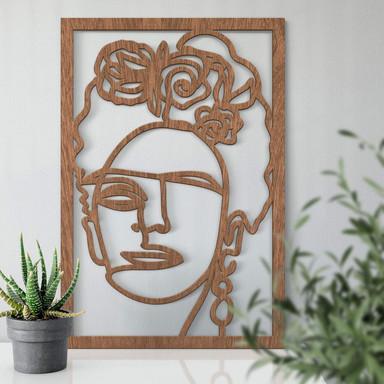Holzdeko Mahagoni Hariri - Frida Kahlo