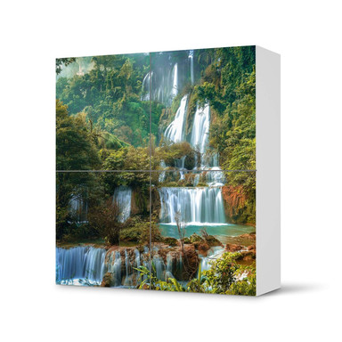 Klebefolie IKEA Besta Schrank 4 Türen - Rainforest- Bild 1