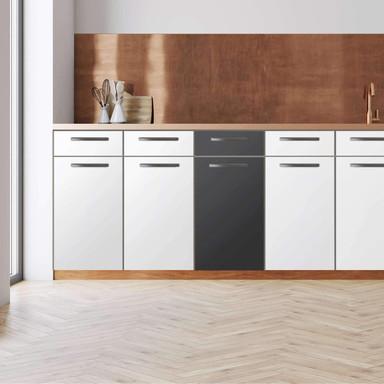 Küchenfolie - Unterschrank 40cm Breite - Grau Dark