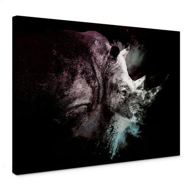 Leinwandbild Hugonnard - Wild Explosion: Nashorn
