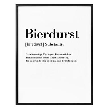 Poster Grammatik - Bierdurst