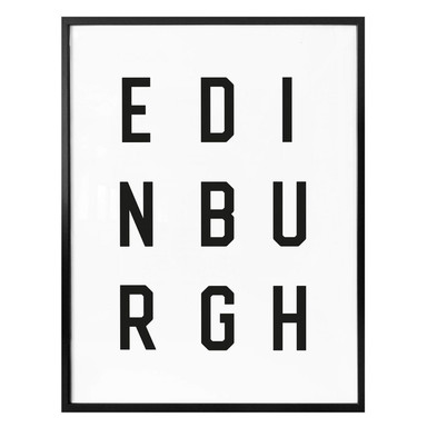 Poster - Typographie Edinburgh