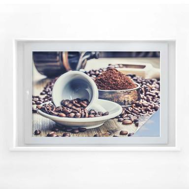 Sichtschutzfolie Kaffee Träume