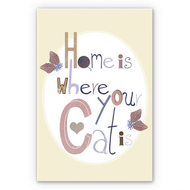 Wandbild Loske - Home is where your Cat is