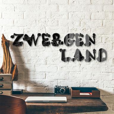 Acrylbuchstaben Zwergenland