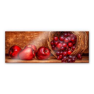 Acrylglasbild Perfoncio - Rote Früchte - Panorama
