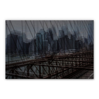 Alu-Dibond-Silbereffekt Massimo - New York City