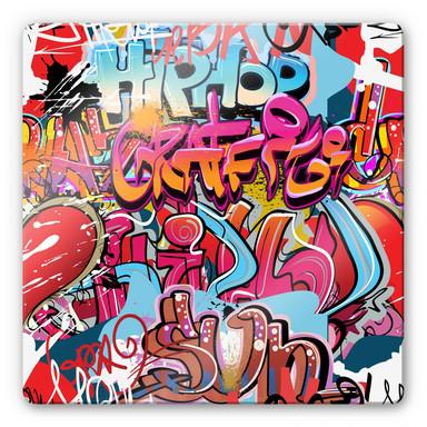 Glasbild Graffiti Hip Hop