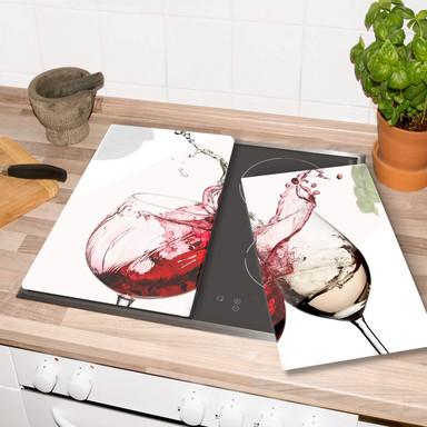 Herdabdeckplatte Weingläser