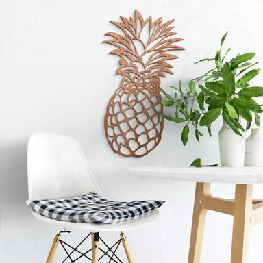Holzkunst - Ananas - Mahagoni
