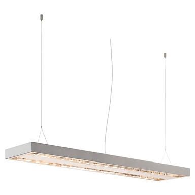 Längliche LED Deckenleuchte RAsto, weiss, umrüstbar zur Pendelleuchte, 1204x304x58 mm