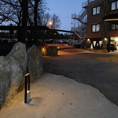 LED Wegeleuchte Chertan aus Aluguss in Dunkelgrau 450 mm