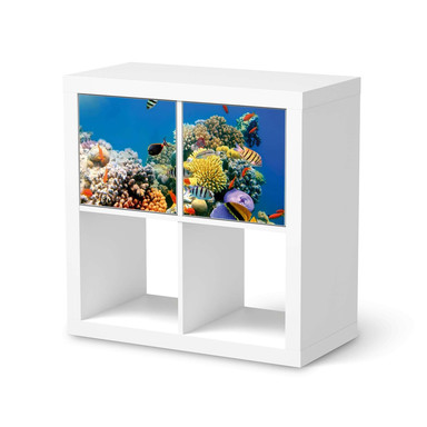 Möbelfolie IKEA Kallax Regal 2 Türen (quer) - Coral Reef- Bild 1