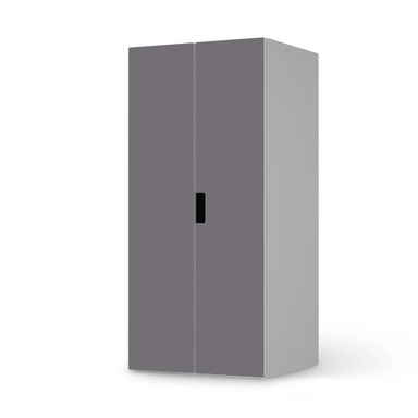 Möbelfolie IKEA Stuva / Malad Schrank - 2 grosse Türen - Grau Light