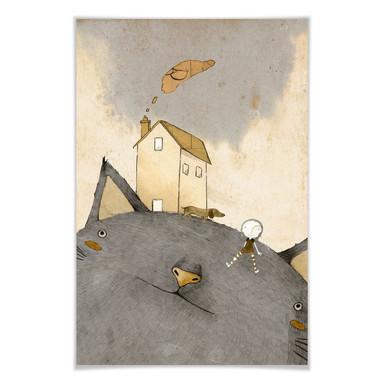 Poster Loske - Katzenhaus