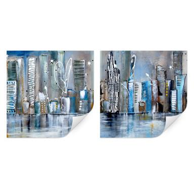 Wallprint Fedrau - Skyline (2-teilig)